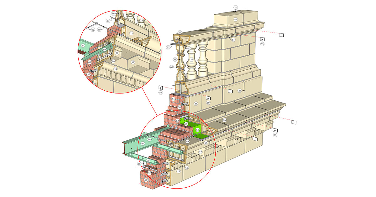 IMI Releases Update of Century-Old Terra Cotta Details to Guide Restoration Efforts